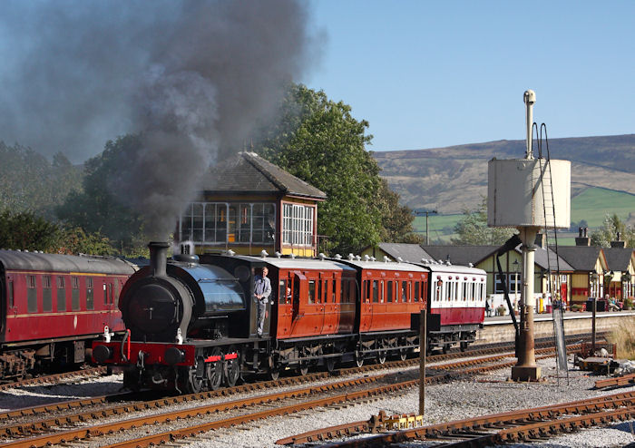 Darfield No.1 leaves Bolton Abbey with the 13.50 Vintage train to Embsay 26th September 2009 (Neil Harvey)