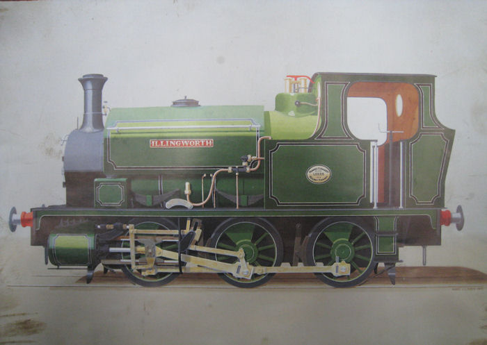 NVLR Hudswell Clark 1208 in green post-1930 as Illingworth. By Nigel Digby