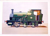 Limited Edition Print (500) - NVLR Hudswell Clark 1208 in green post 1930 as  Illingworth. By Nigel  Digby