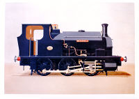 Limited Edition Print (500)  -  NVLR Hudswell  clark  1208 pre 1930 as Mitchell. By Nigel Digby